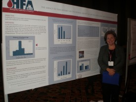 Michelle Burg at NHF's Research Posters Reception