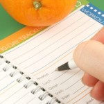 writing in a diet and nutrition journal