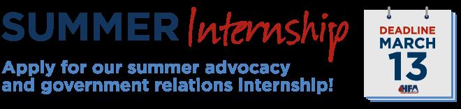 2020 Summer Advocacy Internship   Deadline to Apply is March 13, 2020