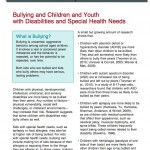 Bullying and Children and Youth with Disabilities and Special Health Needs_Image
