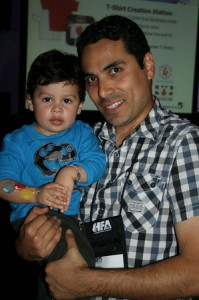 Dad with son at HFA event