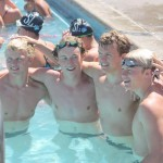 Forbes 4 boys in pool