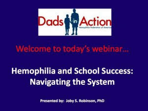 Hemophilia & School Success August 2013 Webinar graphic