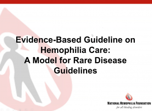 Evidence Based Guidelines on Hemophilia Care_Webinar IMAGE