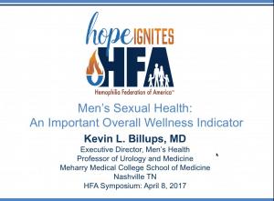 Men's Sexual Health Webinar Title Slide