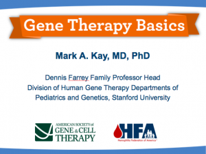ASGCT Webinar Gene Therapy Basics
