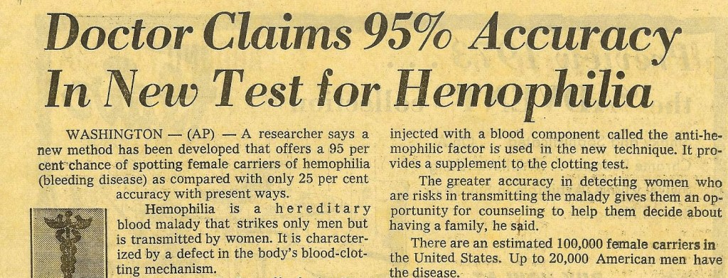 1970's_Hemophilia_Article