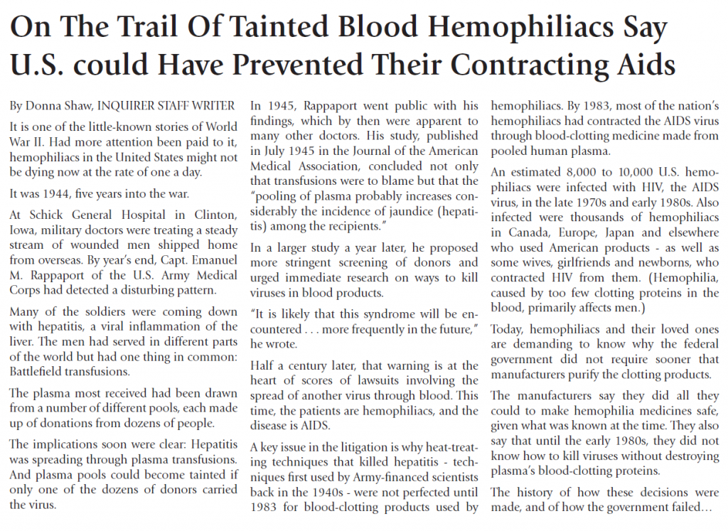Trail of Tainted Blood