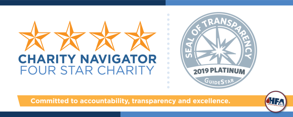HFA is dedicated to accountability, transparency and excellence of our charity status.