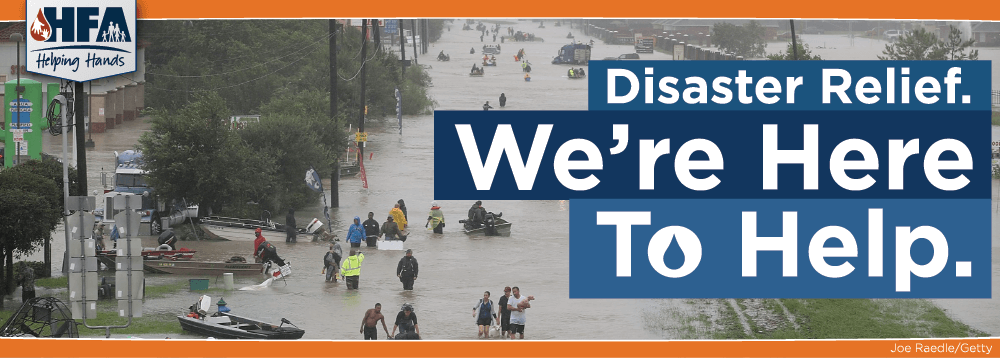 Disaster Relief: We're Here To Help.