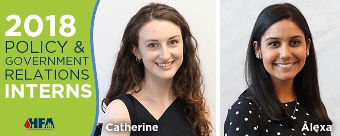 Meet HFA's 2018 Interns - Catherine and Alexa