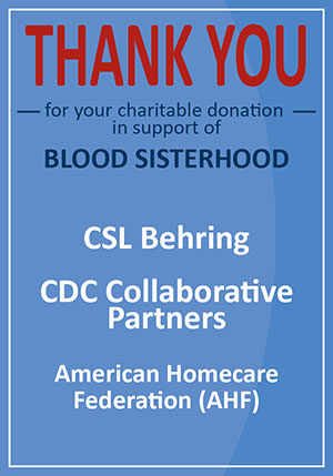 Thank You for supporting Blood Sisterhood